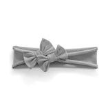 Petit Bows Headwrap//Heather Grey