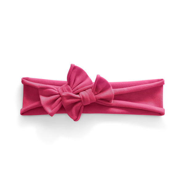 Petit Bows Headwrap//Hot Pink