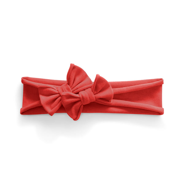 Petit Bows Headwrap//Red