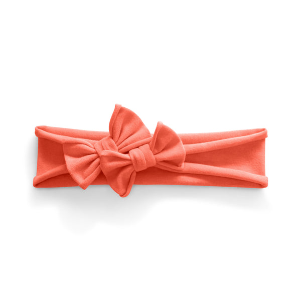 Petit Bows Headwrap//Salmon