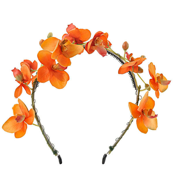 Orchid Headband//Orange