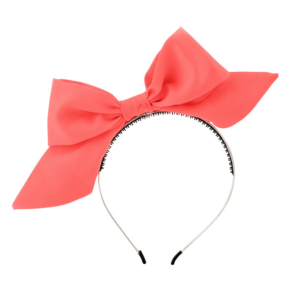 Tied Bow Hairband//Coral