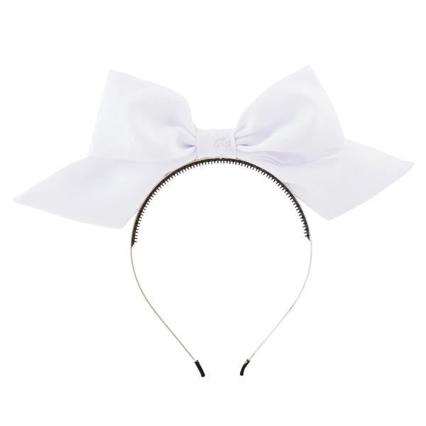 Tied Bow Hairband//White