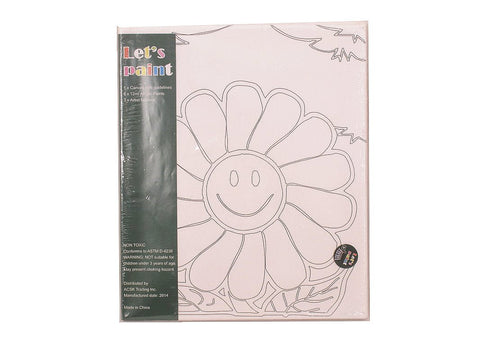 PinkMontesori Sunflower Canvas - Acrylic Painting Set with Brushes Kids Craft - Pink Montessori Montessori Material for sale @ pinkmontessori.com - 1