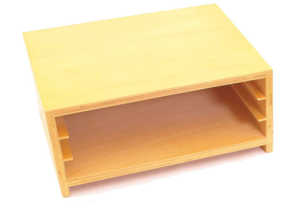 PinkMontesori Cabinet for 3 Puzzles - Pink Montessori Montessori Material for sale @ pinkmontessori.com
