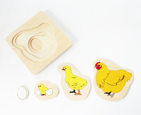 PinkMontesori Chicken Life-Cycle Puzzle - Pink Montessori Montessori Material for sale @ pinkmontessori.com