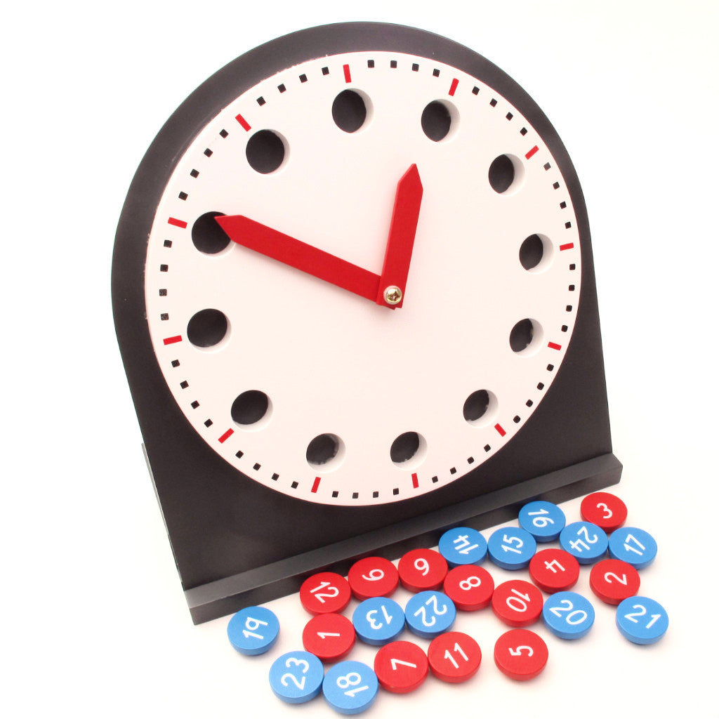 PinkMontesori Clock with Moveable Hands - Pink Montessori Montessori Material for sale @ pinkmontessori.com