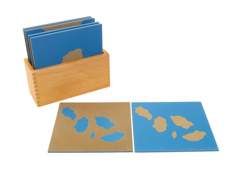 PinkMontesori Land Form Sandpaper Boards - Pink Montessori Montessori Material for sale @ pinkmontessori.com - 1