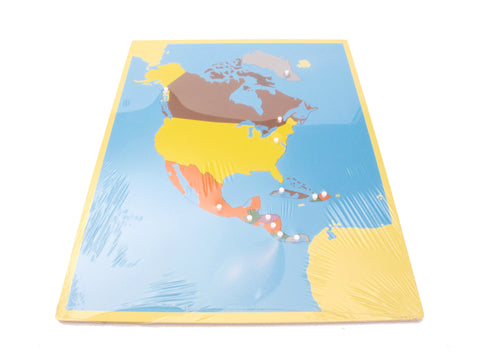 PinkMontesori Puzzle Map of North America - Pink Montessori Montessori Material for sale @ pinkmontessori.com