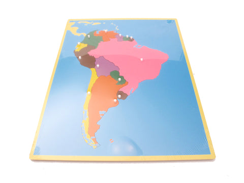 PinkMontesori Puzzle Map South America - Pink Montessori Montessori Material for sale @ pinkmontessori.com