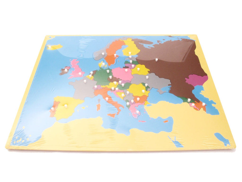PinkMontesori Puzzle Map  Europe - Pink Montessori Montessori Material for sale @ pinkmontessori.com