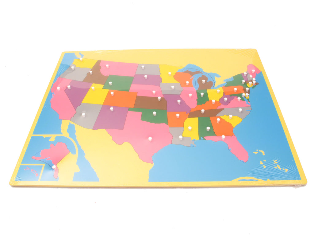 Puzzle Map USA  Pink Montessori - Map of usa for sale