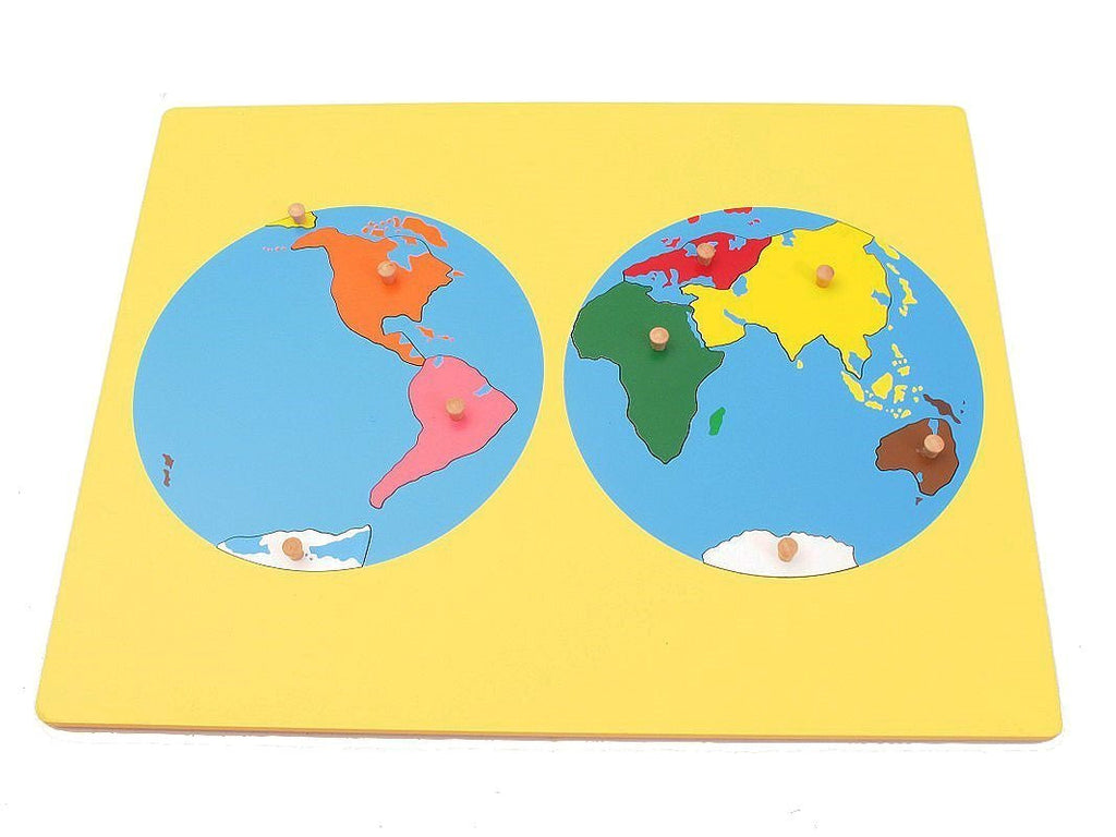 Small Board Map of the World – Pink Montessori