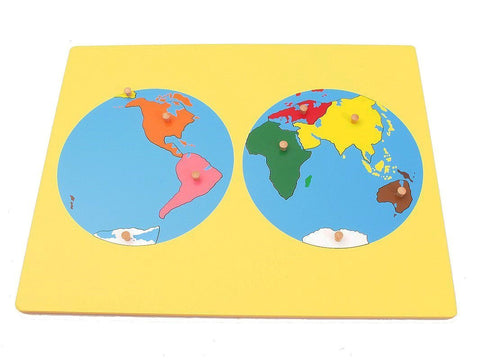 PinkMontesori Small  Board Map of the World - Pink Montessori Montessori Material for sale @ pinkmontessori.com