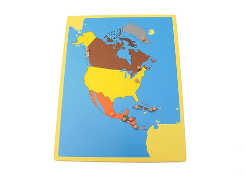PinkMontesori Small Board Map of North America - Pink Montessori Montessori Material for sale @ pinkmontessori.com