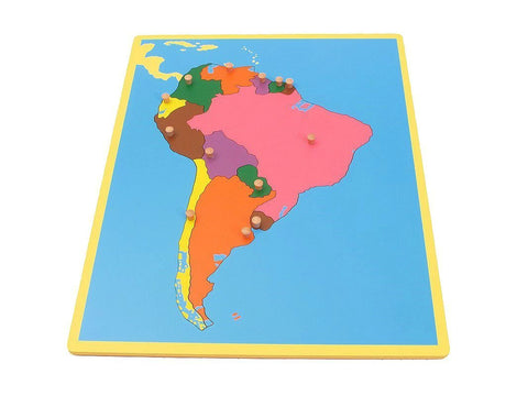 PinkMontesori Small  Board Map of South America - Pink Montessori Montessori Material for sale @ pinkmontessori.com