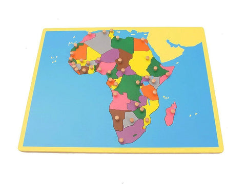 PinkMontesori Small Board Map of Africa - Pink Montessori Montessori Material for sale @ pinkmontessori.com