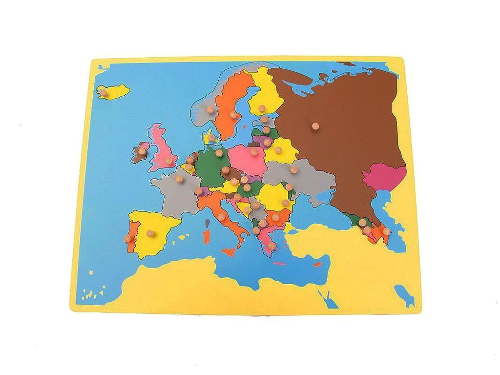 PinkMontesori Small Board Map of Europe - Pink Montessori Montessori Material for sale @ pinkmontessori.com