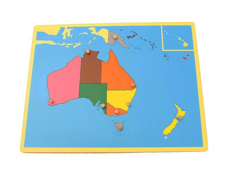 PinkMontesori Small Board Map of Australia - Pink Montessori Montessori Material for sale @ pinkmontessori.com