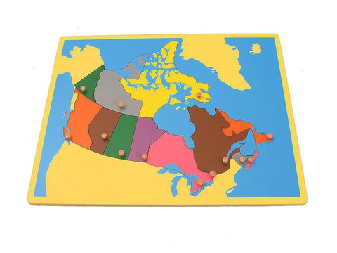 PinkMontesori Small Board Map of Canada - Pink Montessori Montessori Material for sale @ pinkmontessori.com