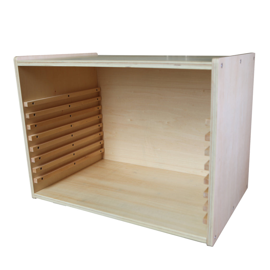 PinkMontesori Cabinet for Puzzle Maps for 8 Maps - Pink Montessori Montessori Material for sale @ pinkmontessori.com