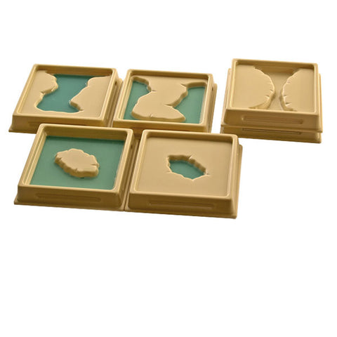 PinkMontesori Land and Water Form Trays : Set 1 - Pink Montessori Montessori Material for sale @ pinkmontessori.com