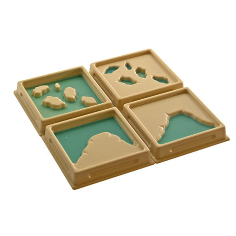 PinkMontesori Land and Water Form Trays : Set 2 - Pink Montessori Montessori Material for sale @ pinkmontessori.com