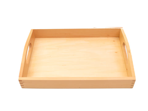 PinkMontesori Small Tray with Handle - Pink Montessori Montessori Material for sale @ pinkmontessori.com