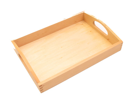 PinkMontesori Medium Tray with Handle - Pink Montessori Montessori Material for sale @ pinkmontessori.com