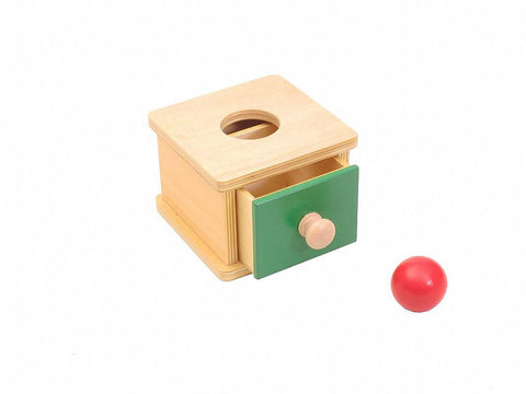 PinkMontesori Imbucare Box with Ball - Pink Montessori Montessori Material for sale @ pinkmontessori.com - 1