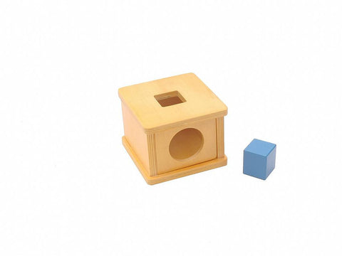 PinkMontesori Imbucare Box with Square Prism - Pink Montessori Montessori Material for sale @ pinkmontessori.com - 1