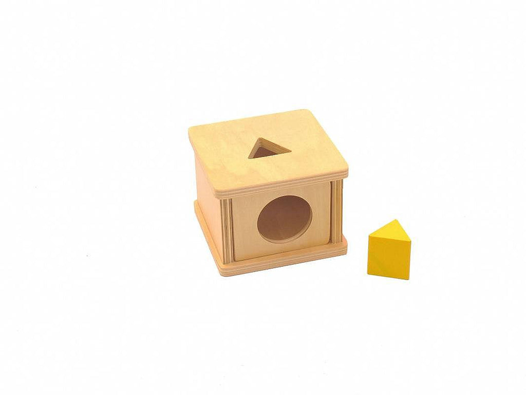PinkMontesori Imbucare Box with Triangular Prism - Pink Montessori Montessori Material for sale @ pinkmontessori.com - 1