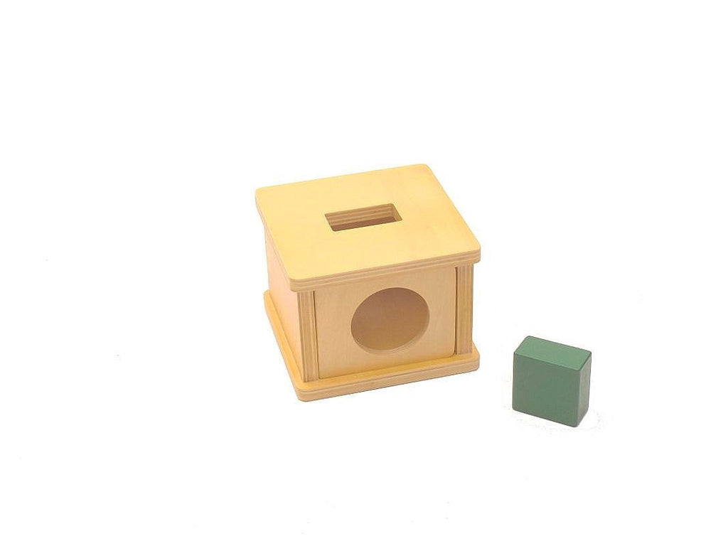 PinkMontesori Imbucare Box with Rectangular Prism - Pink Montessori Montessori Material for sale @ pinkmontessori.com - 1