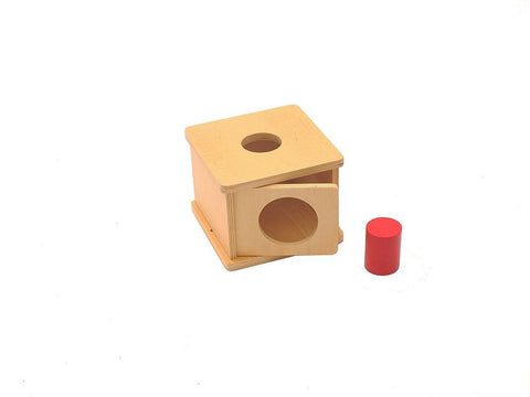 PinkMontesori Imbucare Box with Large Cylinder - Pink Montessori Montessori Material for sale @ pinkmontessori.com - 1