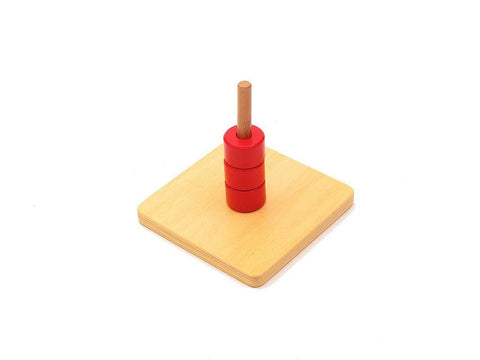 PinkMontesori Discs on Vertical Dowel - Pink Montessori Montessori Material for sale @ pinkmontessori.com - 1
