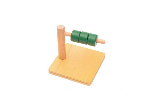 PinkMontesori Discs on Horizontal Dowel - Pink Montessori Montessori Material for sale @ pinkmontessori.com - 1