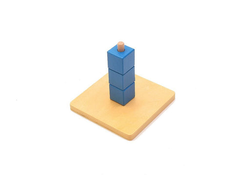 PinkMontesori Cubes on Vertical Dowel - Pink Montessori Montessori Material for sale @ pinkmontessori.com - 1