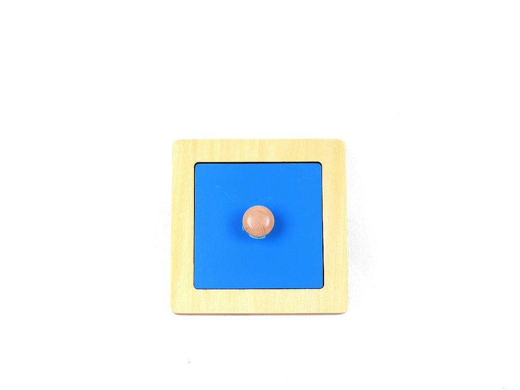 PinkMontesori Rectangle Puzzle with Large Knob - Pink Montessori Montessori Material for sale @ pinkmontessori.com - 1