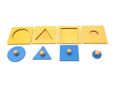 Basic Shape Puzzles with Big Knob Set of 4