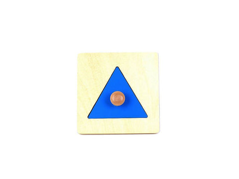 PinkMontesori Triangle Puzzle with Large Knob - Pink Montessori Montessori Material for sale @ pinkmontessori.com - 1
