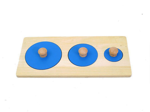 PinkMontesori Three Circles Puzzle - Pink Montessori Montessori Material for sale @ pinkmontessori.com