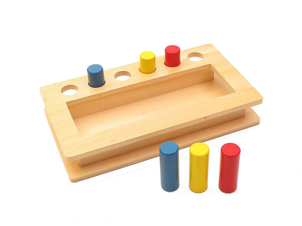 PinkMontesori Toddler Imbucare Peg Box - Pink Montessori Montessori Material for sale @ pinkmontessori.com - 1