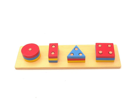 PinkMontesori Circle, Rectangle, Triangle, Square Blocks - Pink Montessori Montessori Material for sale @ pinkmontessori.com - 1
