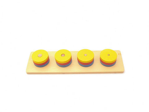 PinkMontesori Four Circular Blocks - Pink Montessori Montessori Material for sale @ pinkmontessori.com - 1