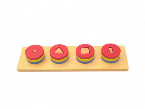 PinkMontesori Building Blocks of Four Circles - Pink Montessori Montessori Material for sale @ pinkmontessori.com - 1