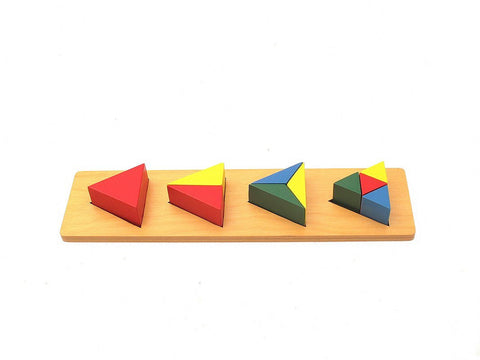 PinkMontesori Coloured Triangle Blocks - Pink Montessori Montessori Material for sale @ pinkmontessori.com - 1