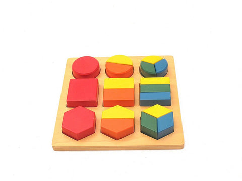 PinkMontesori Decompose Geometry Tray - Pink Montessori Montessori Material for sale @ pinkmontessori.com - 1
