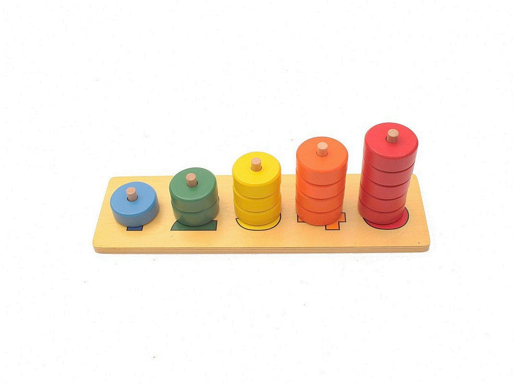 PinkMontesori Number of Round 1-5 - Pink Montessori Montessori Material for sale @ pinkmontessori.com - 1