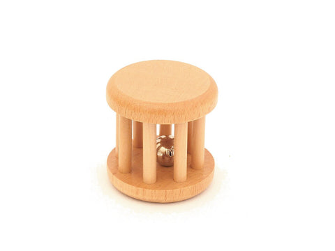 PinkMontesori Natural Baby Toy - Small Bell - Pink Montessori Montessori Material for sale @ pinkmontessori.com - 1