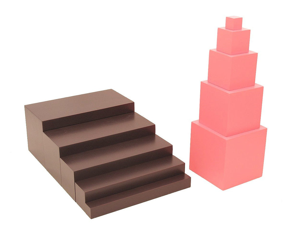 Toddler 5 5teps Package - Brown Stairs & Pink Tower